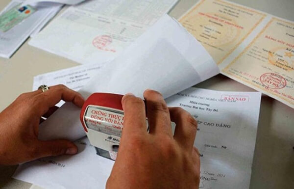Sao y chứng thực giấy tờ - Tài liệu