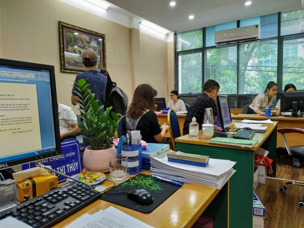 Văn phòng làm việc của công chứng Tràng An