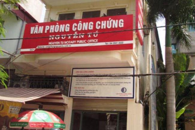 Địa chỉ văn phòng công chứng Nguyễn Tú