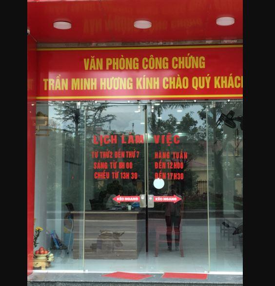 Văn phòng công chứng Trần Minh Hương